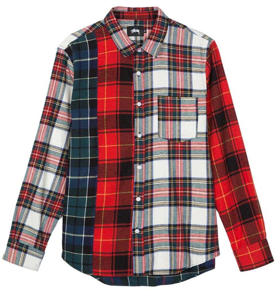 Urban Classics Checked Flanell Shirt Color:wht//red;Gr/ö/ße:S