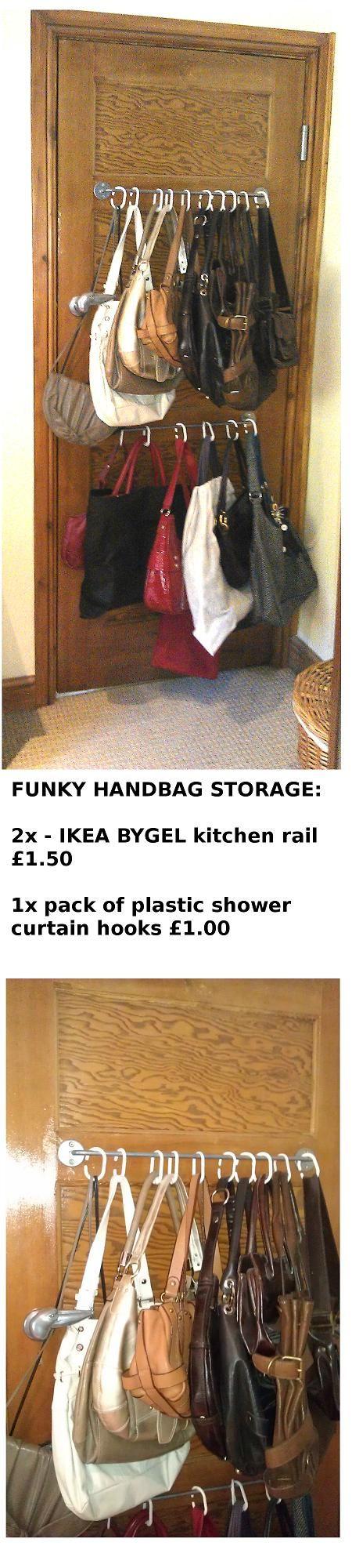 Funky handbag storage for under 5 tips pinterest - Organizadores hogar ...
