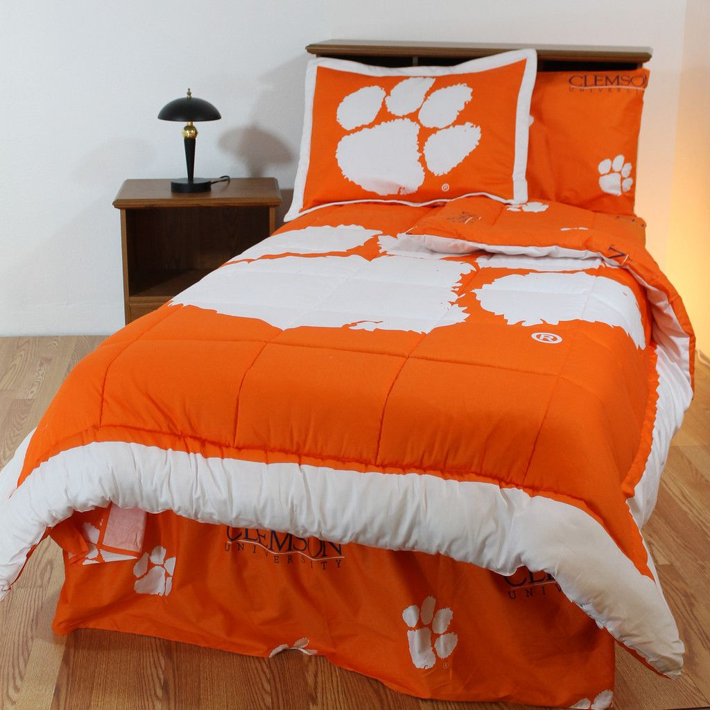Ncaa Clemson Tigers Full Bed Set Orange Cotton Bedding: Clemson Bed In A Bag