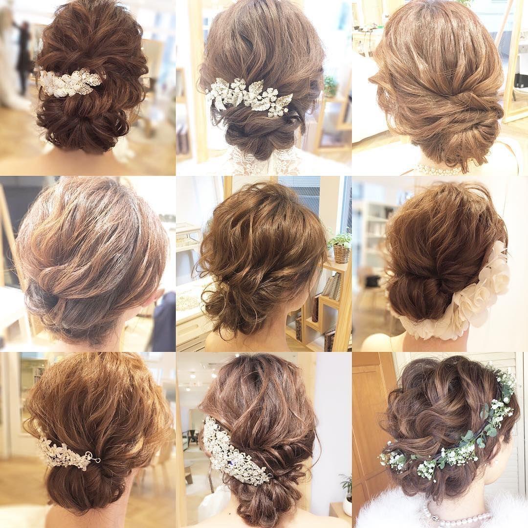 Upstyle Variation 結婚式 ヘアスタイル ヘアアレンジ 卒花 髪型