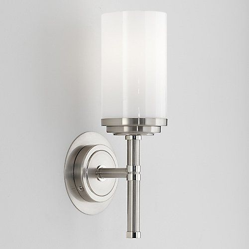 Small Narrow Bathroom Sconce Fixture Height 13 Depth 5 Shade 6 Diameter 4 Plate 3 Halo Wall By Robert Abbey At