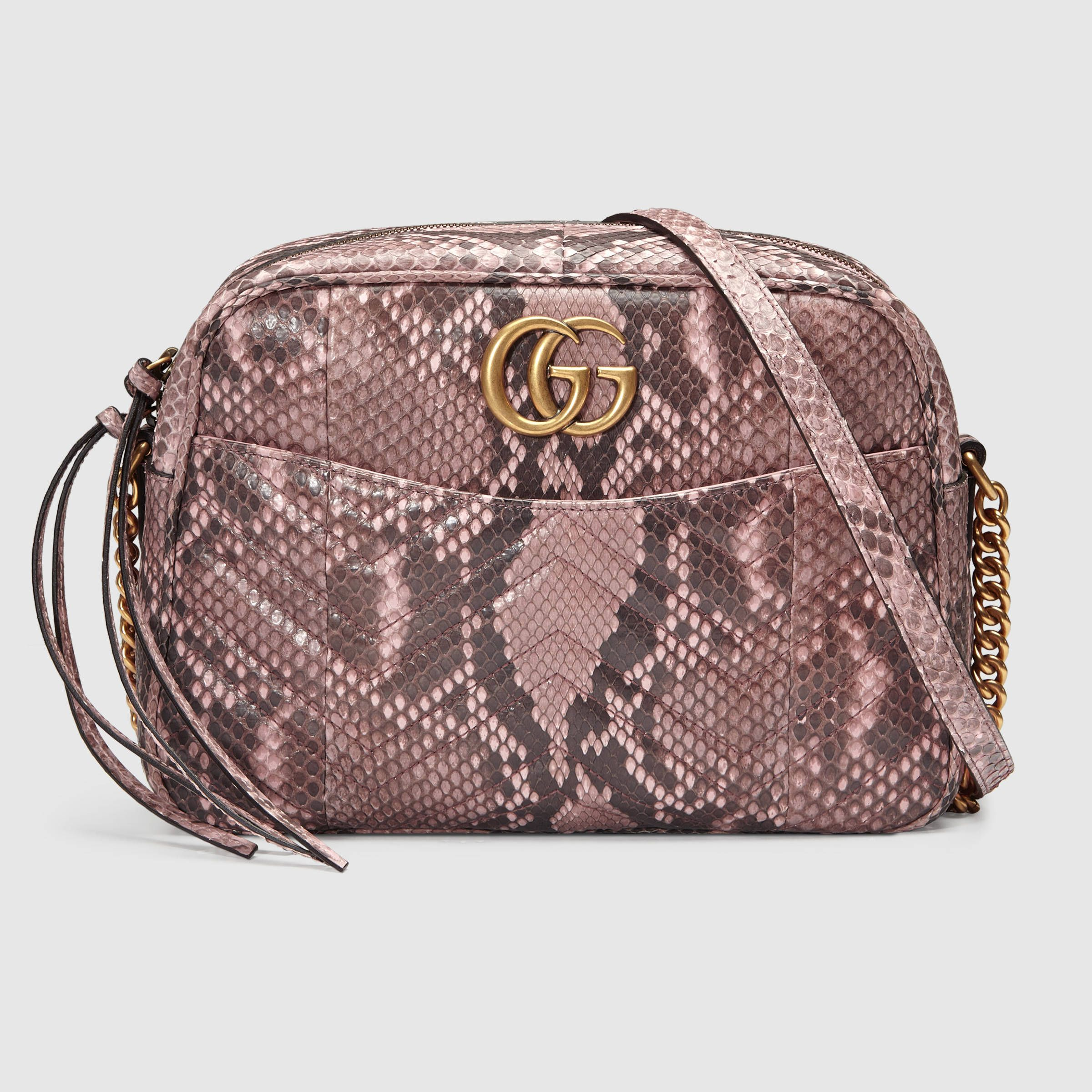 25b3c6f2d GG Marmont medium python shoulder bag | I wish in 2019 | Bags, Gucci ...