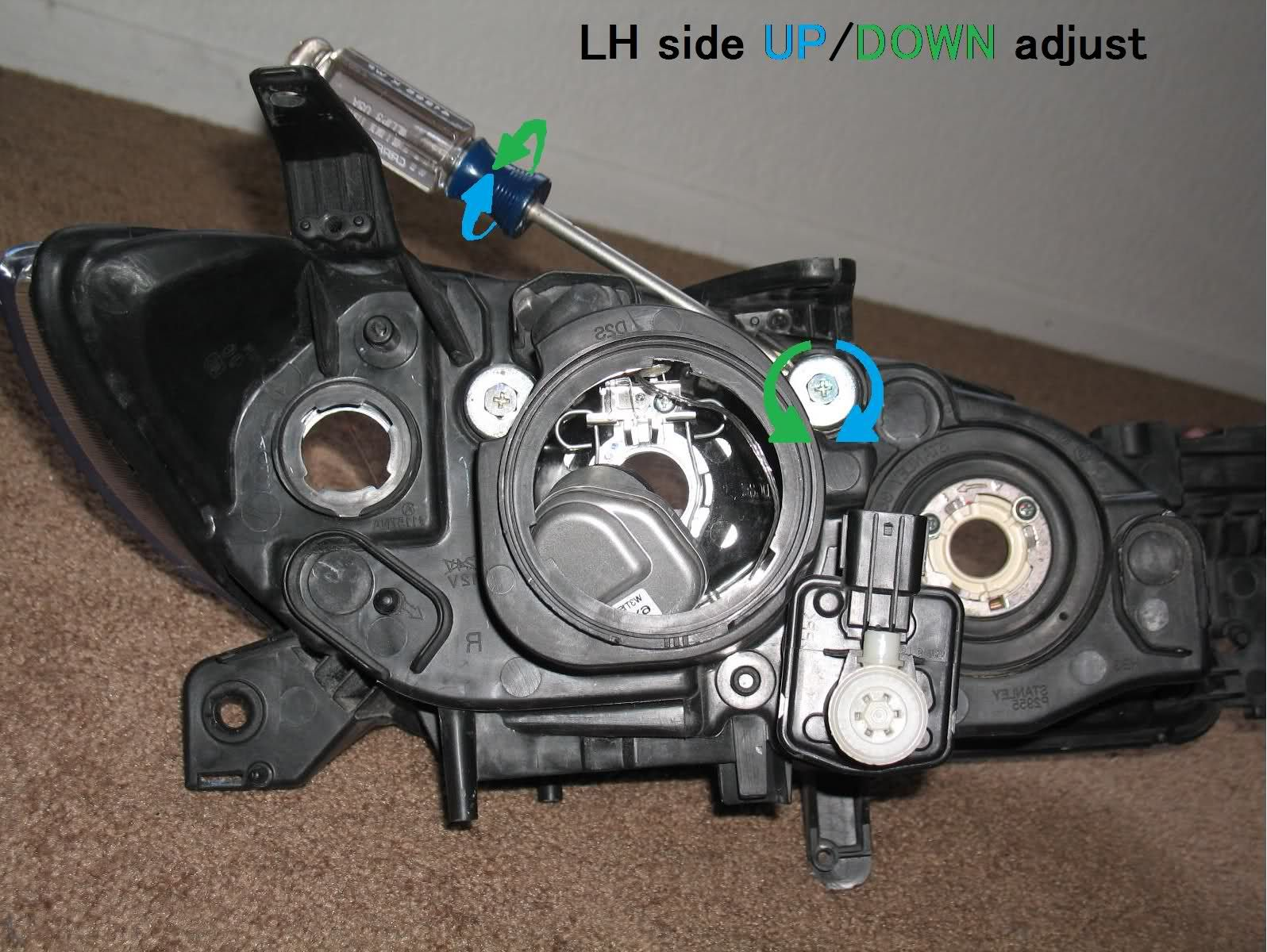 2006 Mazda 3 Headlight Adjustment Google Search