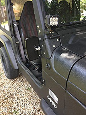 Doors Off Jeep Wrangler Side Hinge Mirrors 1976 2017 Jk Tj Cj