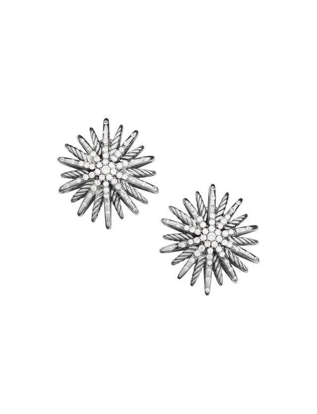 Starburst medium earrings with diamonds by David Yurman; $2,650. davidyurman.com