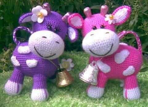 Amigurumi Vaca : Vaquitas crochet amigurumi vaca tejido y patrones