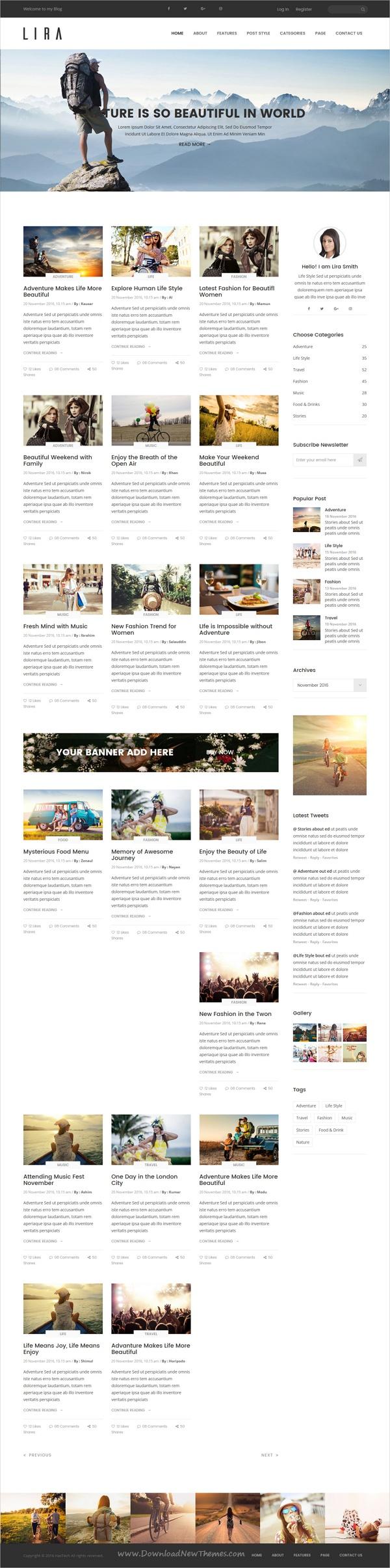 Lira - Affiliate Blog HTML Template | Template