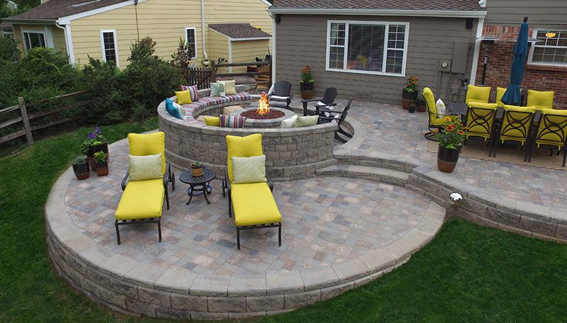 Round Patio Multi Level Patio Fire Pits Fireplaces Patio