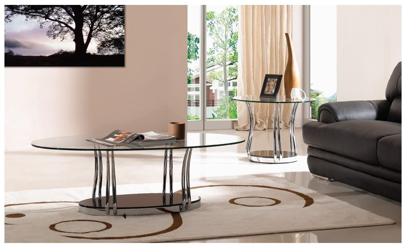 Cosmo Coffee and Lamp Table Transparent Gloss 2013 Range