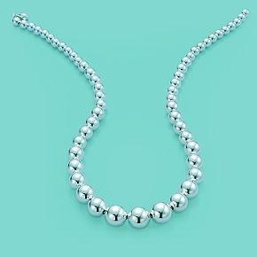 Tiffany Hardwear Graduated Ball Necklace Tiffany And Co Necklace Beaded Necklace Silver Bead Necklace