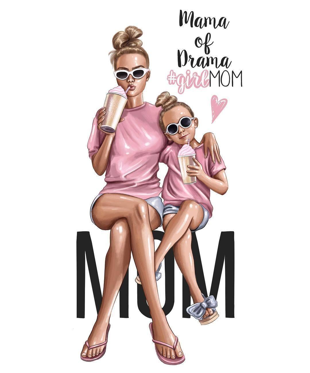 Natalia Vasilyeva Navasyart Fashion Illustrator Anastasia Kosyanova Mother Daughter Art Bff Drawings Mom Art