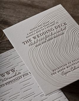 Synthesis Affordable Wedding Invitations Letterpress