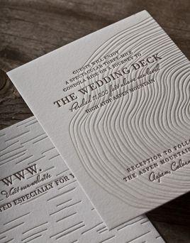 Wood Grain Invites