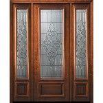 42 X 96 3 4 Lite Courtlandt Mahogany Door 2side Walnut Doors Wood Exterior Door Entry Doors