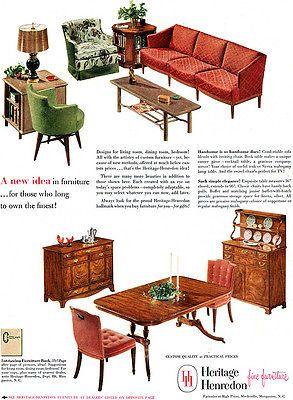 Heritage Henredon Fine Furniture MID CENTURY MODERN Traditional
