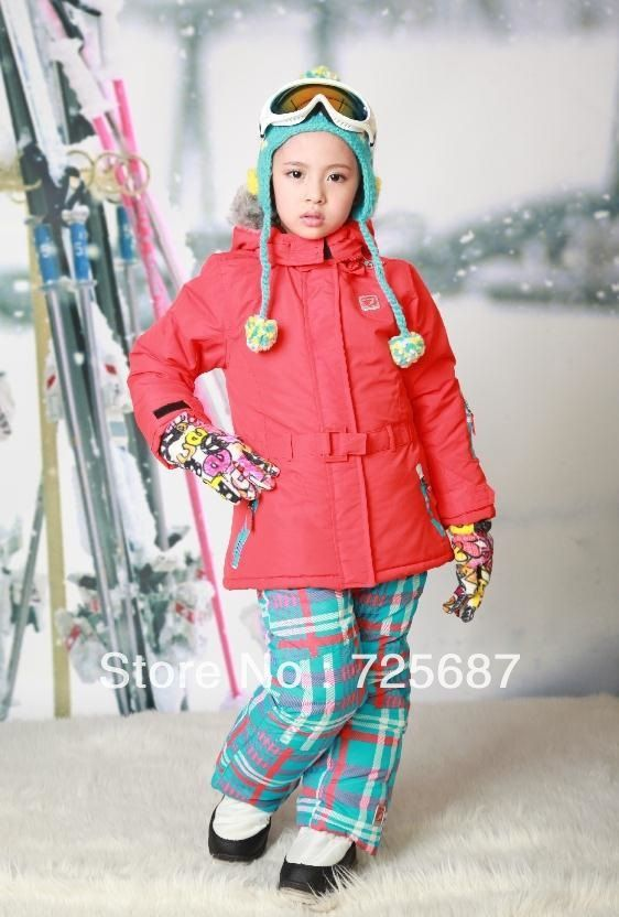 89761f6fd6e3b Boy and girls brand name ski suits children unisex gear set kids winter  thickness coat children clothing set free shipping-in Clothing Sets .