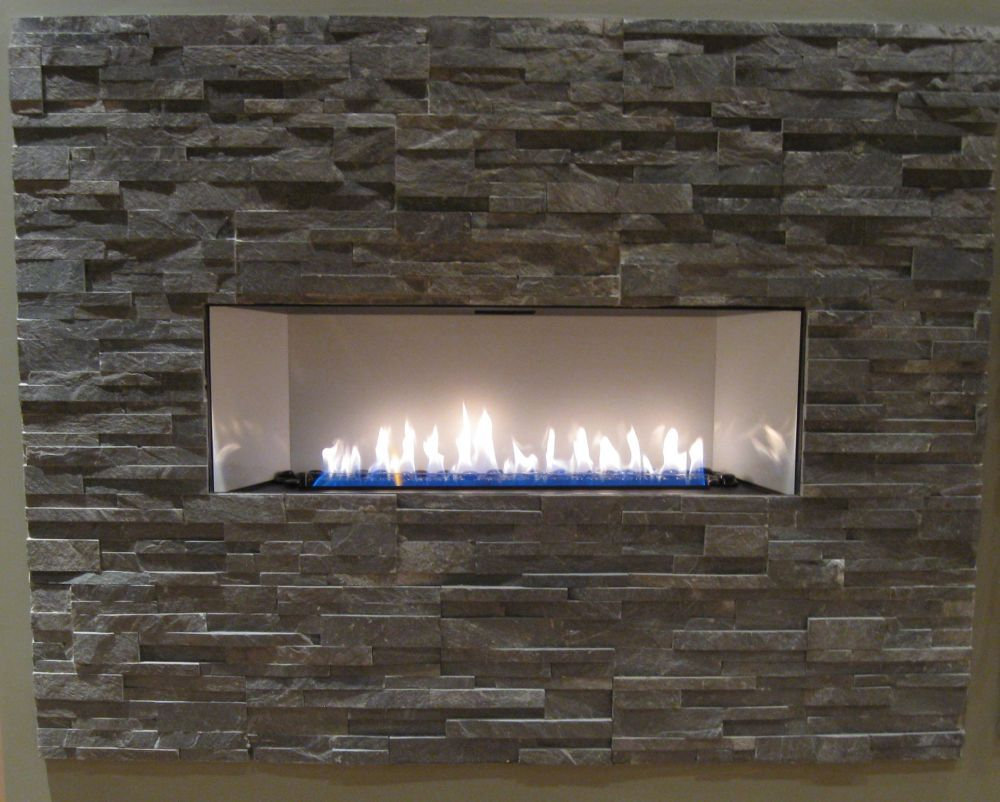 Furniture & Accessories, Square Pave Stone Of Brick Wall Design Fireplace  Ideas Using Gas As The Source In Modern Design Ideas: Contemporary Ventless  Gas ... - 17 Best Ideas About Vent Free Gas Fireplace On Pinterest Thrifty