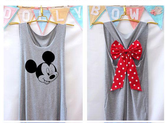 Im Mickey mouse mickey Disney Tank Premium with Bow : Workout Shirt – Keep Calm Shirt – Tank Top – Bow Shirt – Razor Back Tank