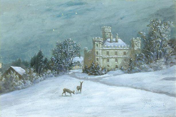 Anton Zwengauer Schloss Berg im Winter - Berg Castle (Bavaria) - Wikipedia, the free encyclopedia