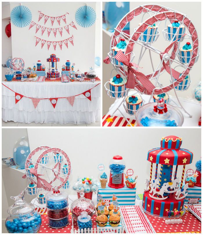 Circus Carnival Themed Birthday Party Via Karas Party Ideas - Circus birthday party ideas pinterest