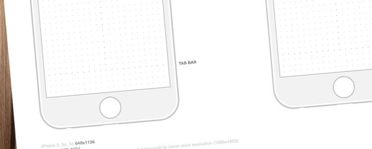 Iphone 6 Wireframe Templates Psd Pdf