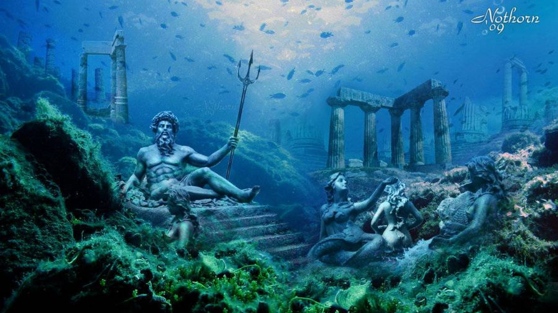 70 Atlantis Underwater Wallpapers Download At Wallpaperbro Underwater Wallpaper Underwater City Underwater Photography
