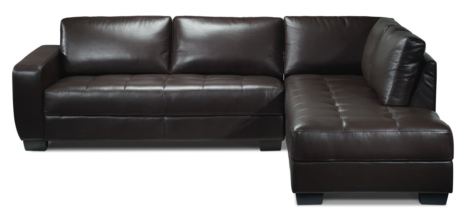 Casoria Leather 2 Pc Sectional Leon S Living Room Furniture Furniture Sectional