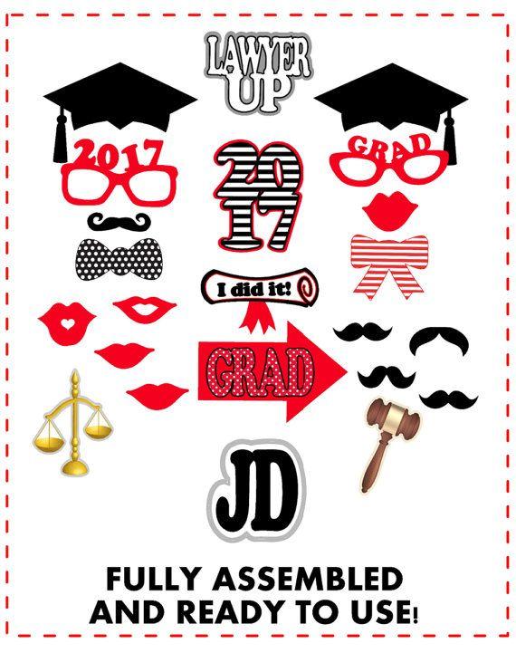 Graduation Photo Booth Props Law School Graduation 22pc Graduation