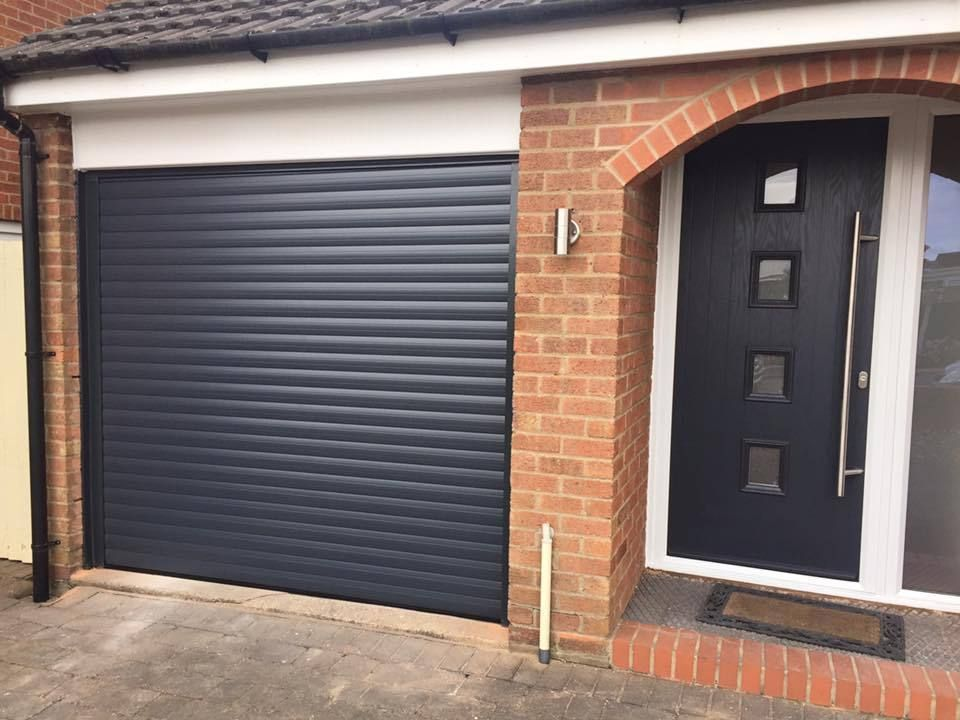 Insulated remote roller garage door fully fitted c e marked