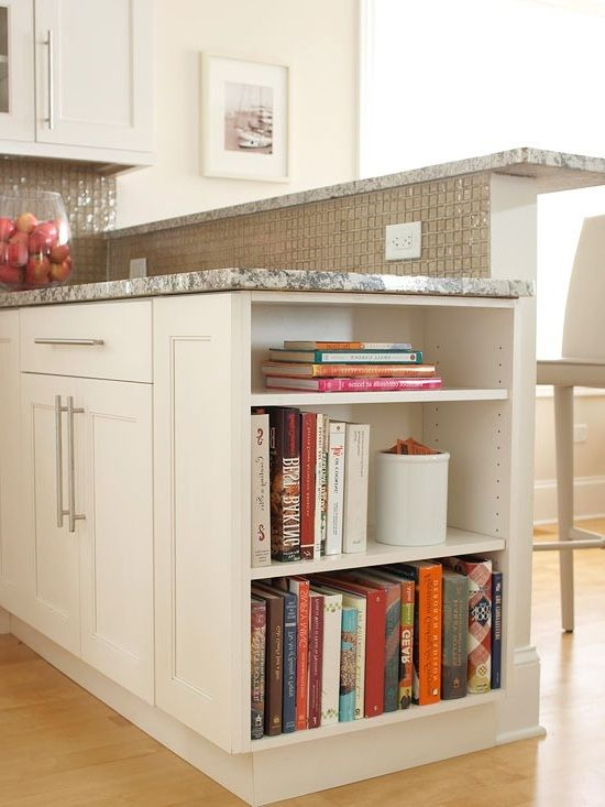 I Want Open Shelves At One End Of Island To Display Cookbooks Kitchen Ideas Pinterest Open