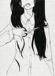Dibujos Tristes A Lapiz Anime