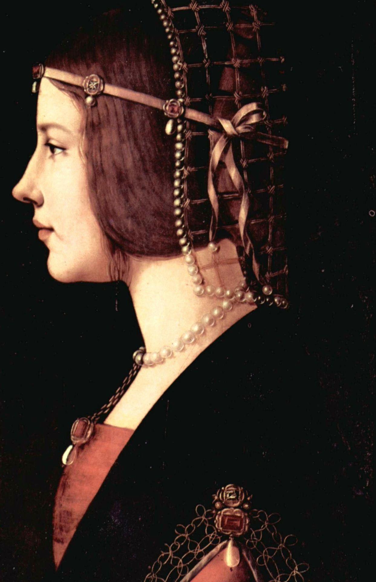 Beatrice d'Este by Ambrogio de Predis, c. 1490