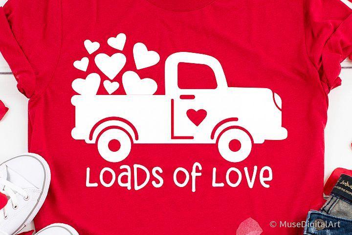 Download Loads of Love Svg, Valentines Red Truck Svg, Kids ...