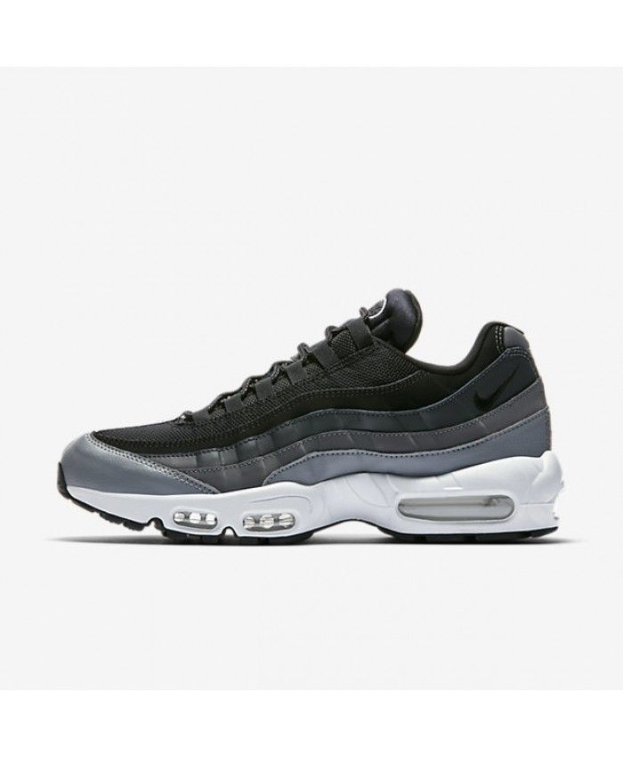 b6f3747447a510 Nike Air Max 95 Essential Black Anthracite Dark Grey Mens Shoes Outlet