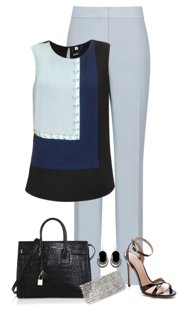 4/18/17 by longstem on Polyvore featuring Reiss, Kurt Geiger, Yves Saint Laurent, Stella & Dot and Le Vieux