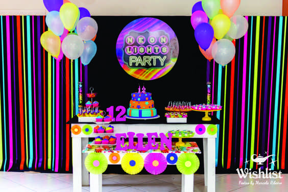Pin De Vanessa Flores En Fabys 15 Pinterest Neon Party