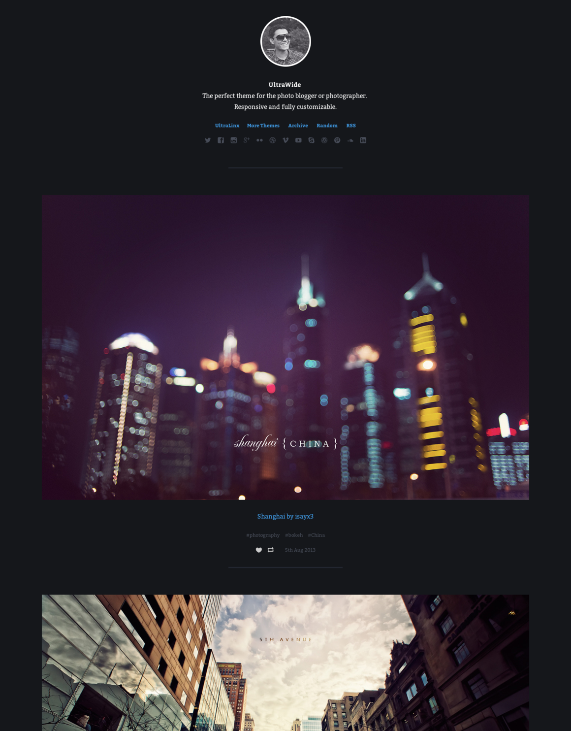 UltraWide - Photography Tumblr Theme   blog inspiration