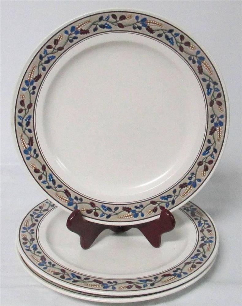 3 Mikasa Intaglio Hacienda CAC 26 Dinner Plates (A4) #MIKASA ...