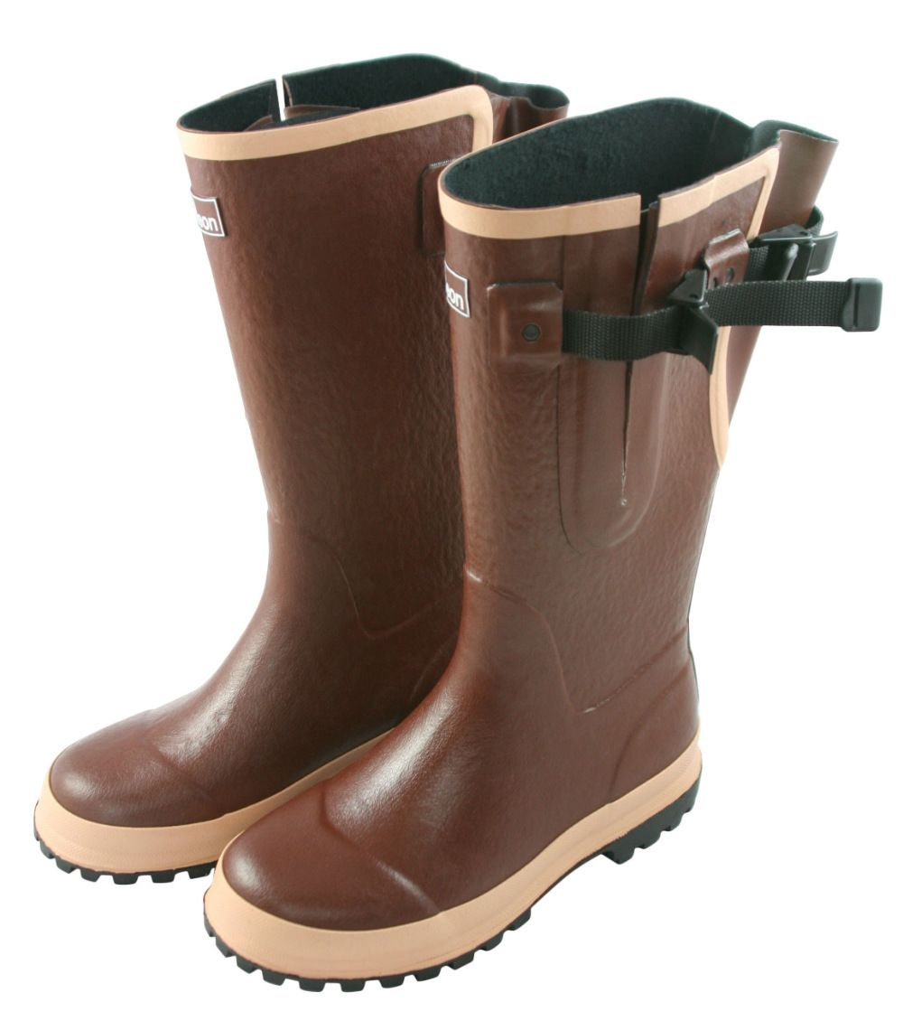 51355c17a90 Extra Wide Fit Hard Wearing Chocolate Wellies - Jileon | fashion for ...