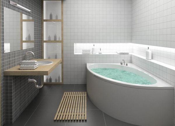 Modernes Bad Mit Weißer Badewanne | Bad | Pinterest | Badewannen