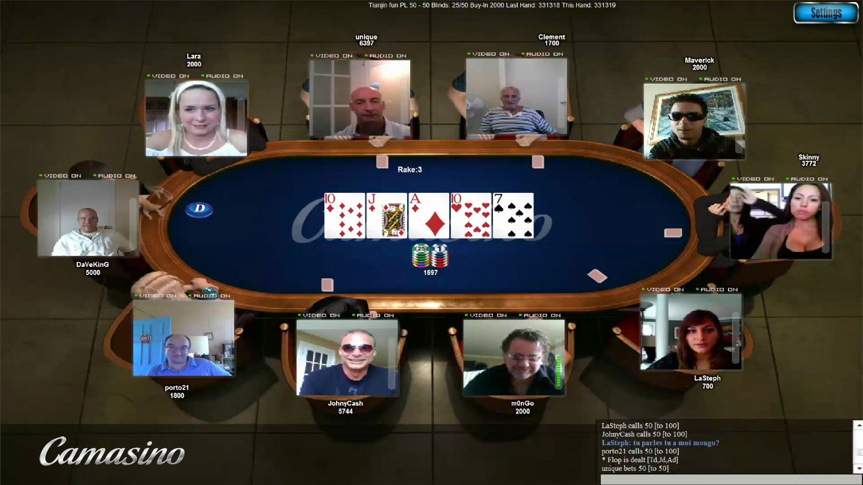 Webcam Poker