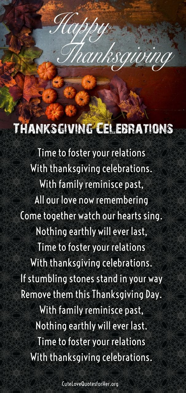 25 Thanksgiving Love Poems to Wish Her and Him