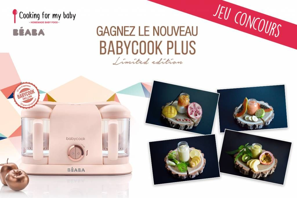 Jeu concours BÉABA & Cooking for my baby : Gagnez un Babycook® Plus Rose Gold ! #recettenovembre