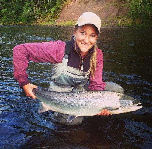 Fly-fisherwoman Marina Gibson