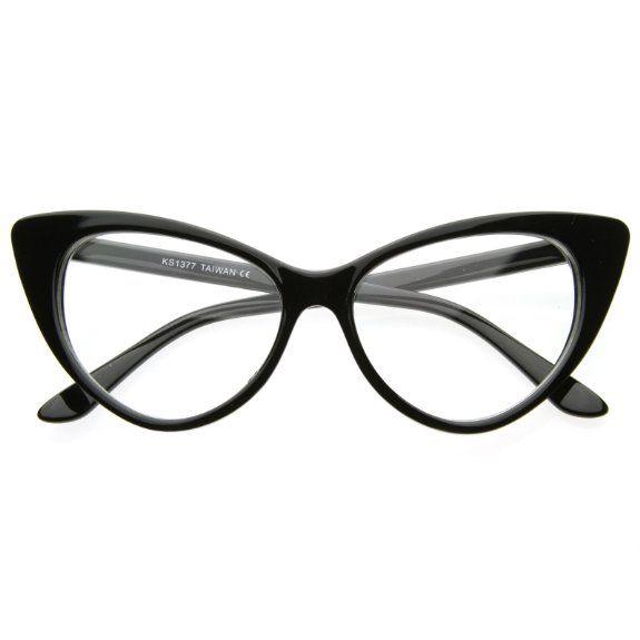 Amazon.com: Super Cat Eye Glasses Vintage Inspired Mod Fashion Clear Lens Eyewear: Shoes