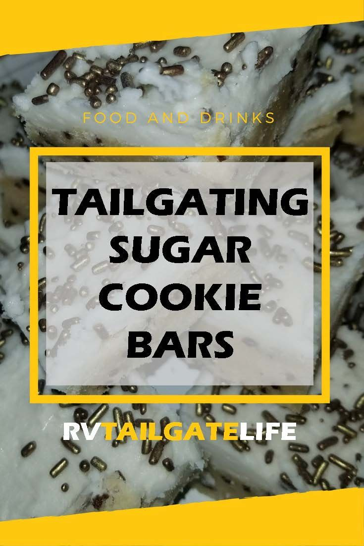 Tailgating Sugar Cookie Bars - Rock Your Team Colors - RV Tailgate Life