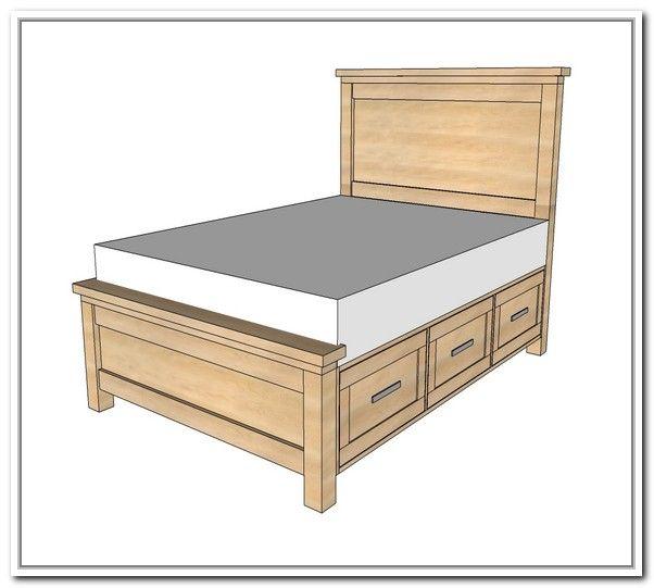 Bed Frame With Storage Plans Bed Storage Best Storage Ideas