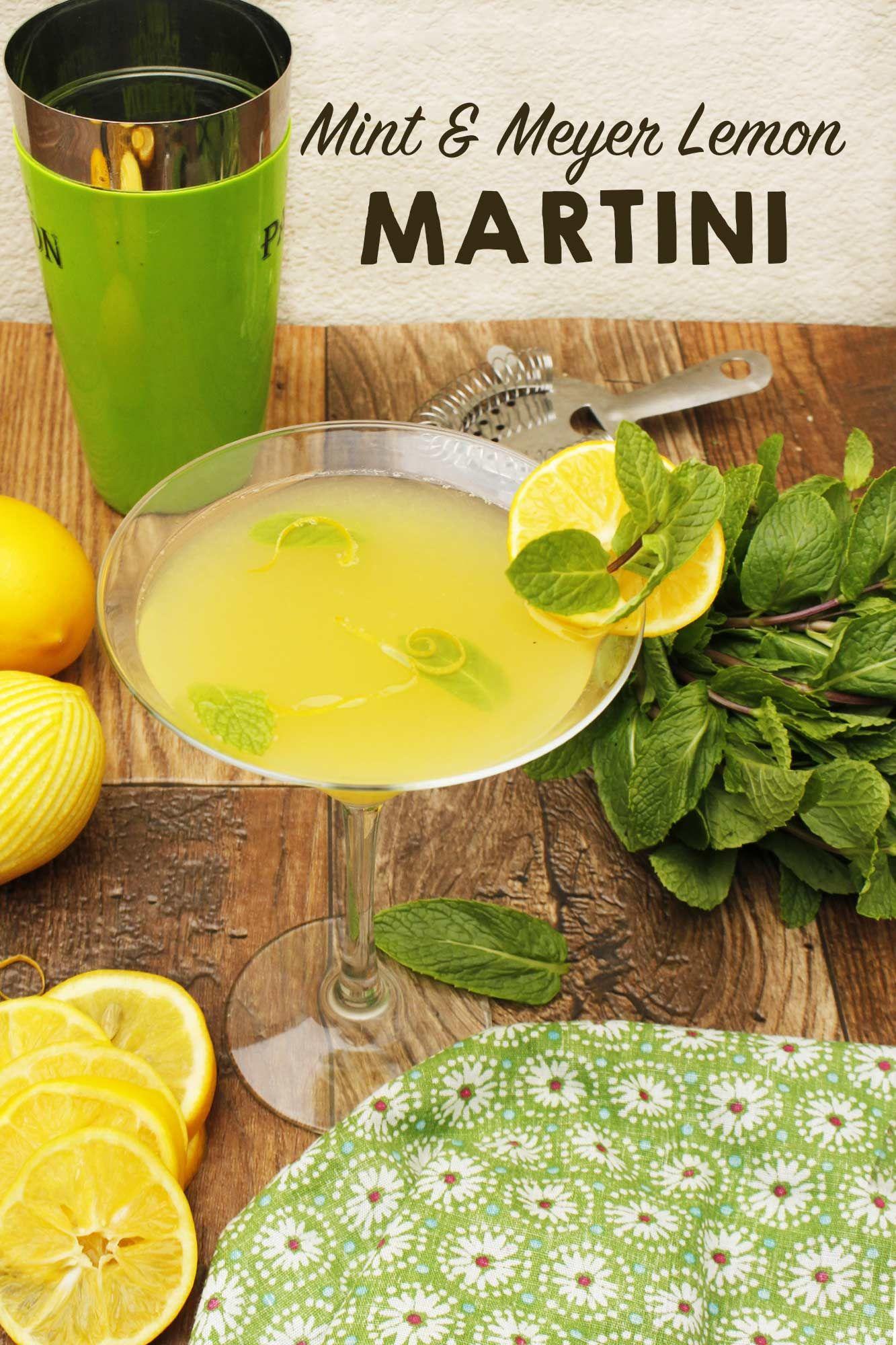 Mint & Meyer Lemon Martini Recipe Spring recipes
