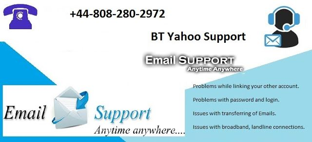 Get Instant Bt Yahoo Support 44 808 280 2972 Connection Phone