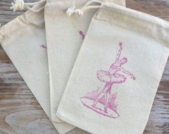 10 ballerina favor bags ballet themed bags little girl birthday
